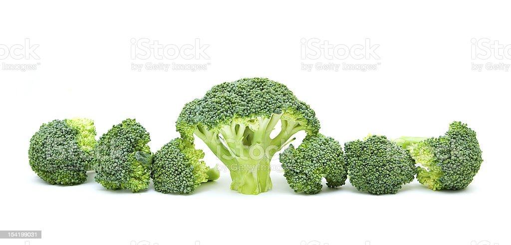 Broccoli isolated on white background royalty-free stock photo