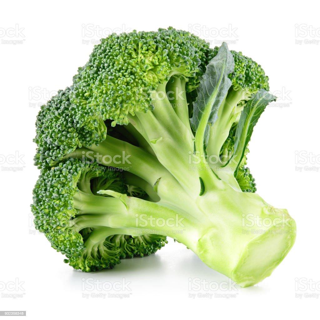 Brokkoli, isoliert auf weiss. Frischer Brokkoli. – Foto