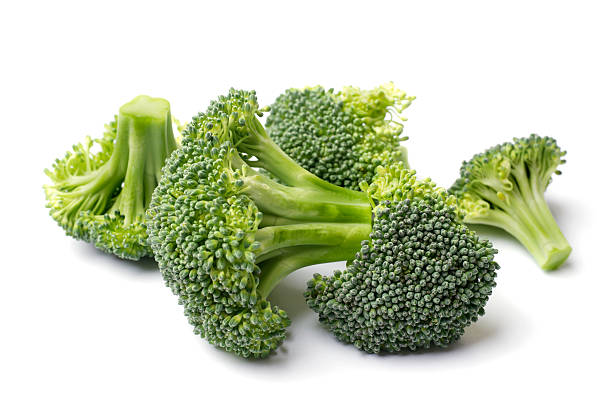 Broccoli Isolated on White stock photo