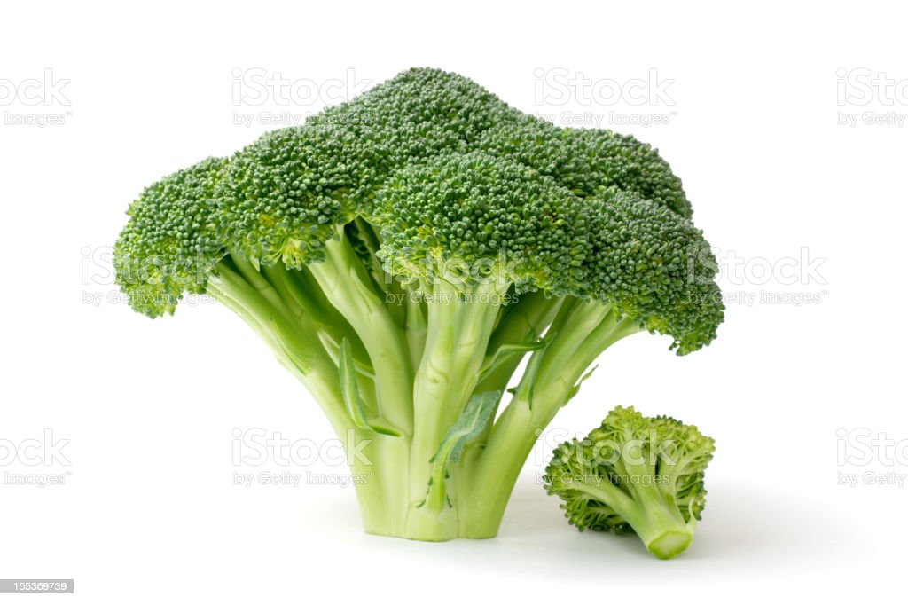 Broccoli Isolated on White royalty-free stock photo