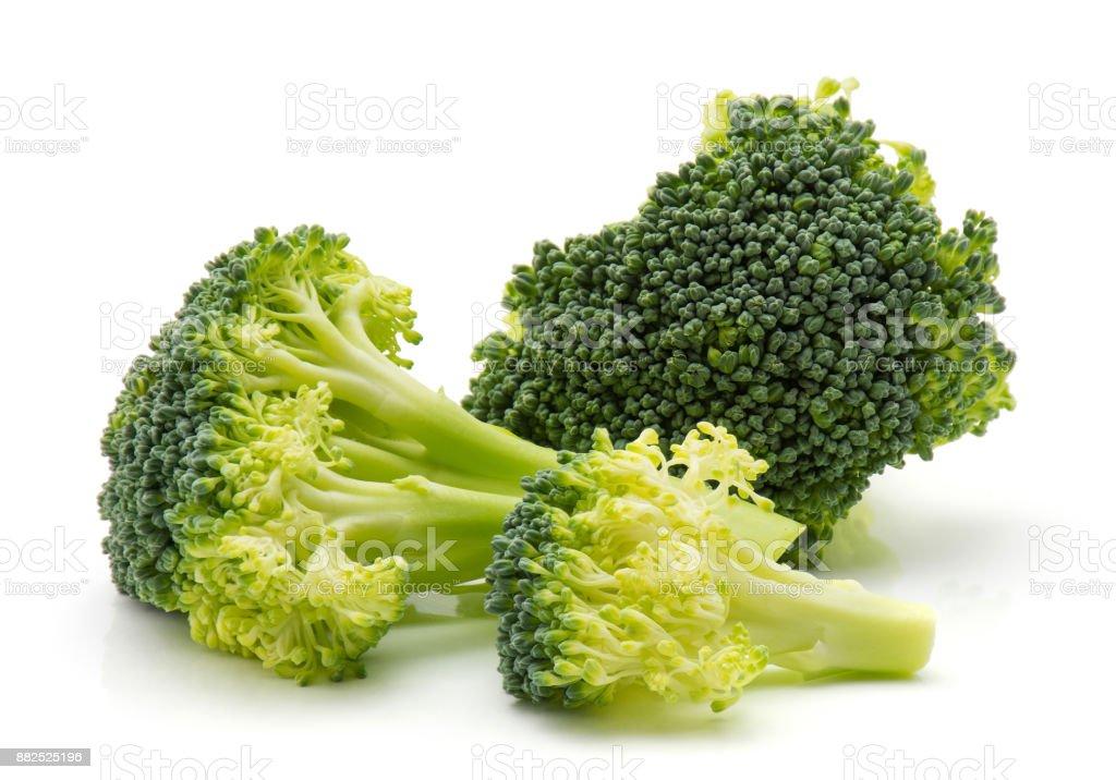 Broccoli isolated on white stock photo
