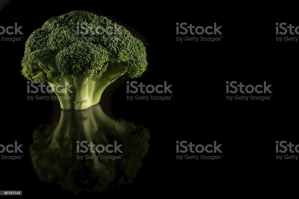Broccoli on Black royalty-free stock photo