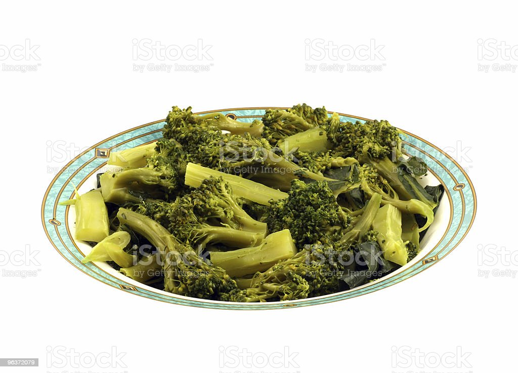 Broccoli on plate stock photo