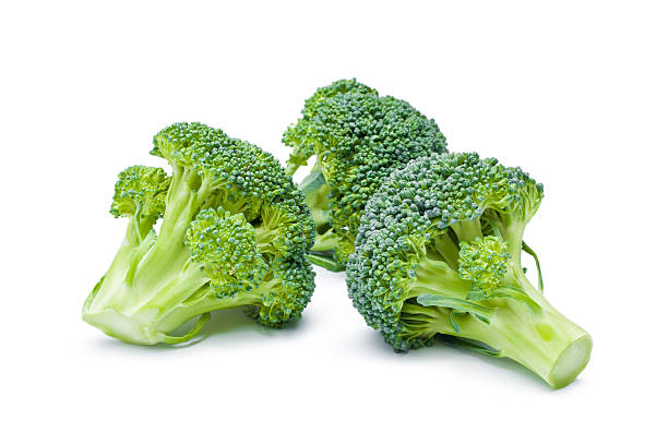broccoli - broccoli white background stock photos and pictures