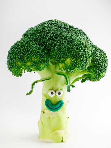 Broccoli portrait. Handmade with clay by CactuSoup