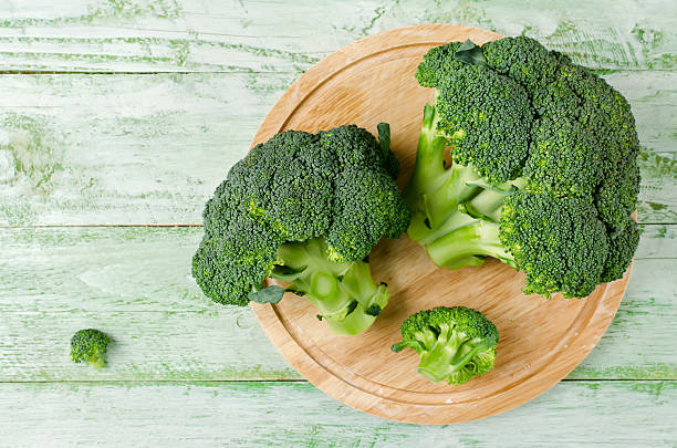 Broccoli rich in vitamins and minerals stock photo