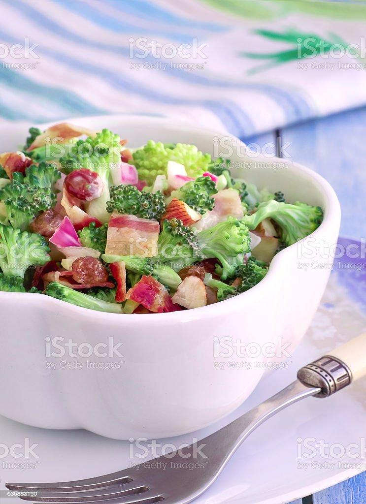 Broccoli Salad Cranberry-Almond stock photo