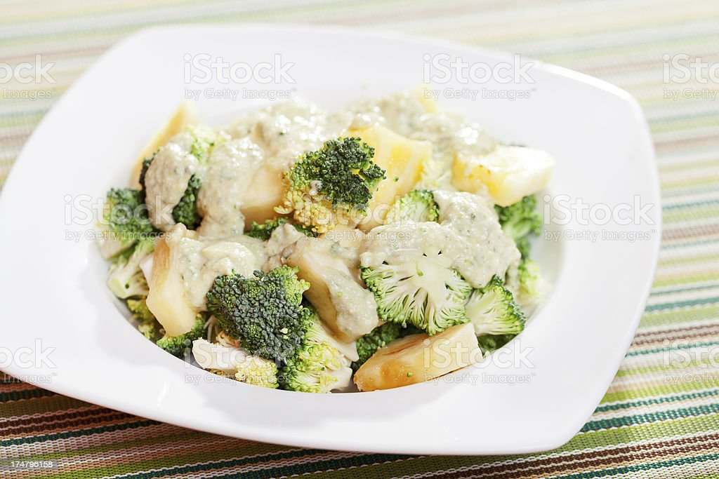 Broccoli with pineapple royalty-free stock photo