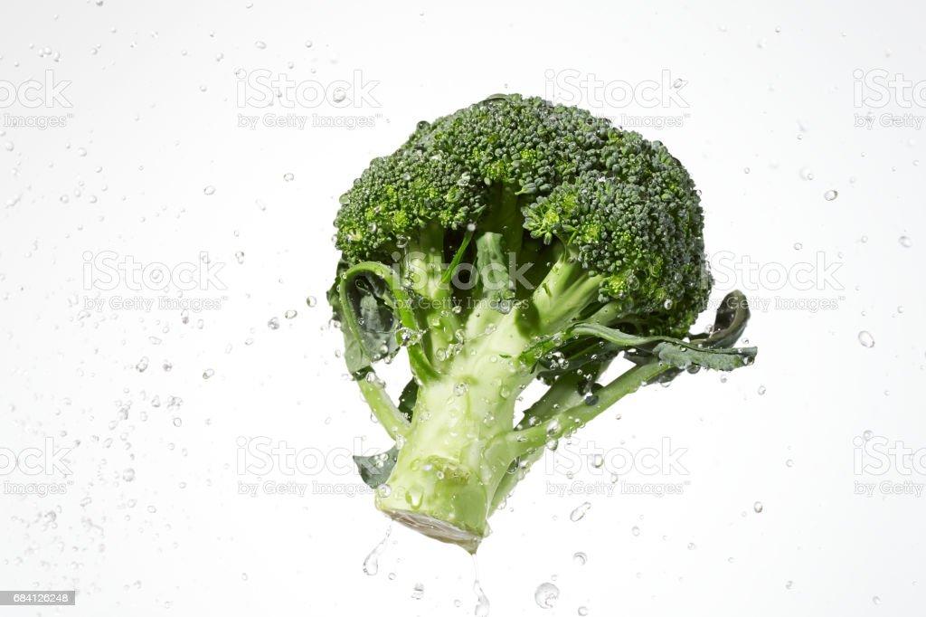 broccoli with water splash foto stock royalty-free