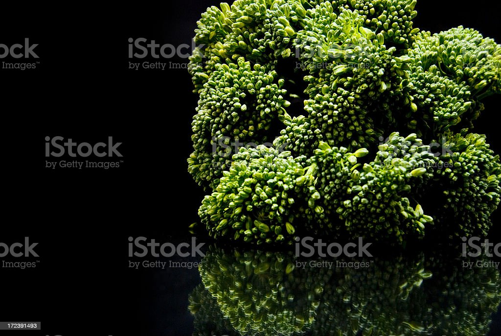 Broccollini Reflection royalty-free stock photo