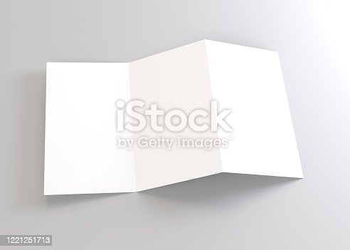 1221251713 istock photo Brochure empty 3d rendering 1221251713