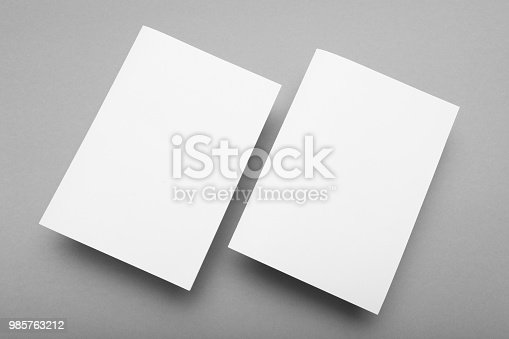 A5 template blank paper mockup.