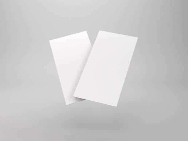 modèle de flyer brochure - étroit photos et images de collection