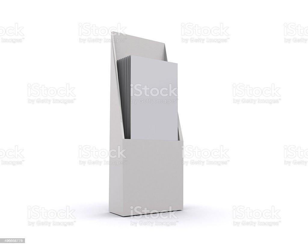 brochure holder template for designers display folder blank royalty free stock photo - Paper Brochure Holder Template
