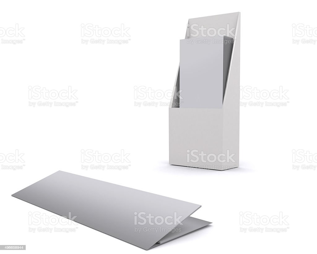 brochure holder template for designers display folder blank royalty free stock photo