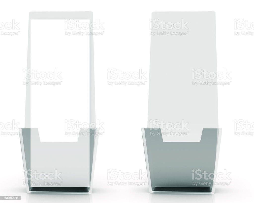 brochure holder template for designers display folder glass royalty free stock photo