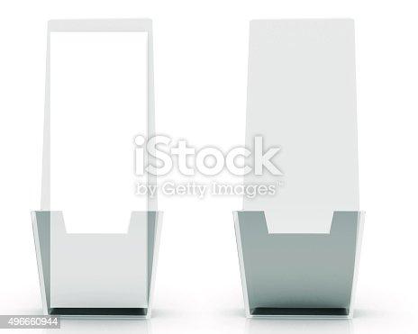 Brochure Holder Template For Designers Display Folder Glass Stock