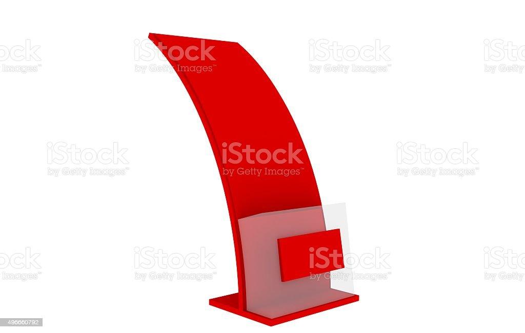 Brochure Holder Template For Designers Display Folder Red Stock