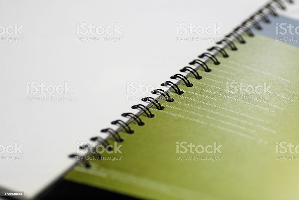 Brochure macro royalty-free stock photo
