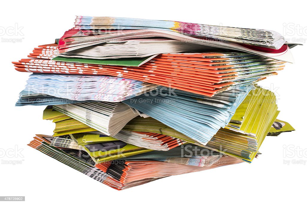 Brochures stock photo