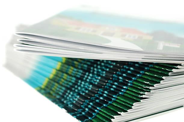 Brochures stock photo