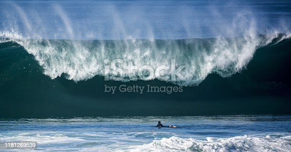 istock Brock Swell - Blacks Beach - La Jolla, San Diego, California, Surfing, Big Wave 1181269539