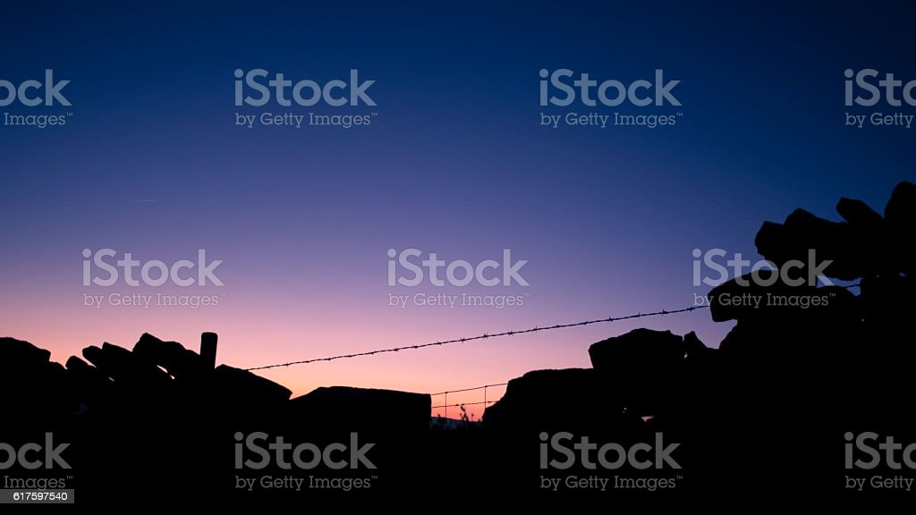 Brocken Wall stock photo