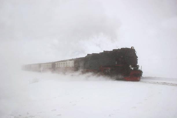 Brockenbahn Im Schneegestöber – Foto