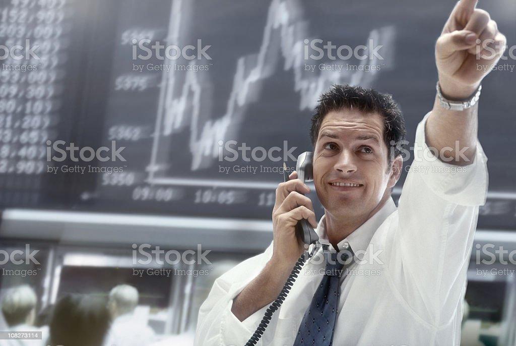 Brocker - Lizenzfrei Am Telefon Stock-Foto