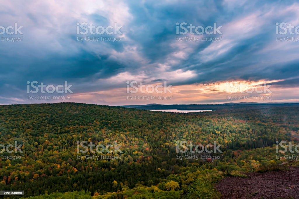 Brockway Mountain Drive stock photo