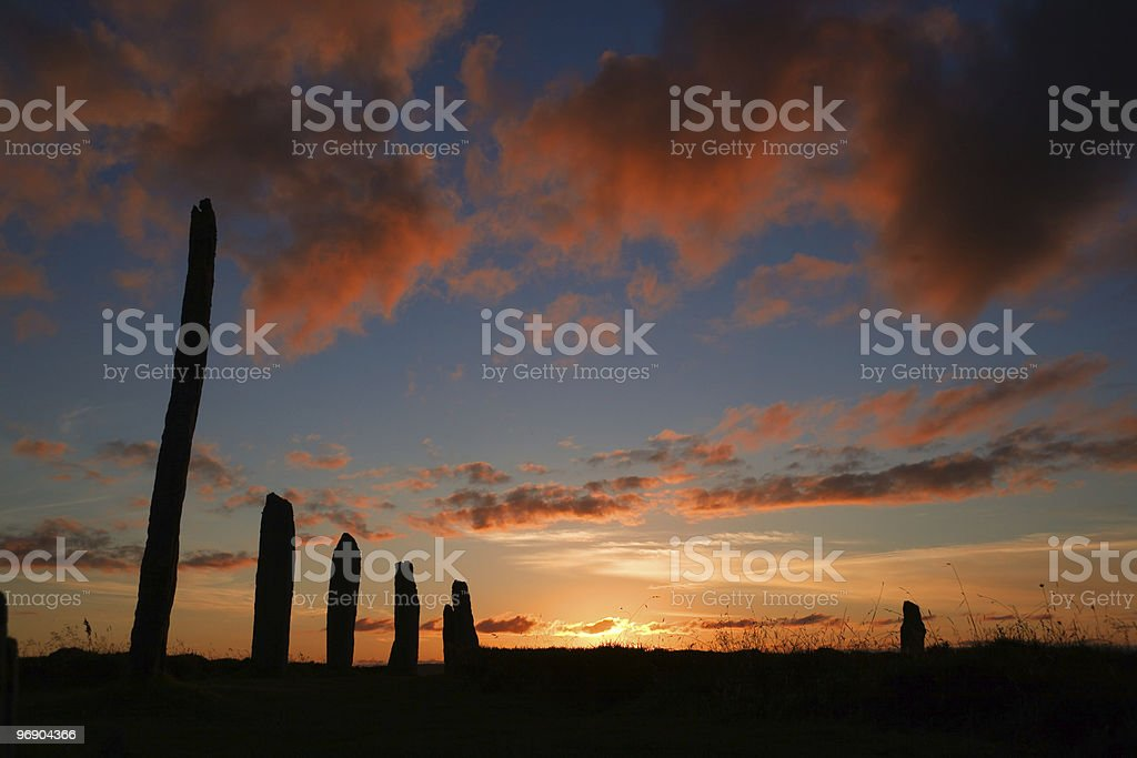 brodgar pink royalty-free stock photo