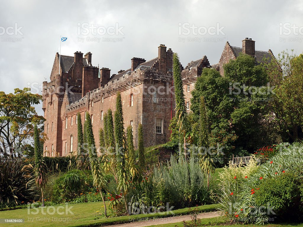 Brodick Castle and Gardens on the Isle of Arran, Scotland stock photo