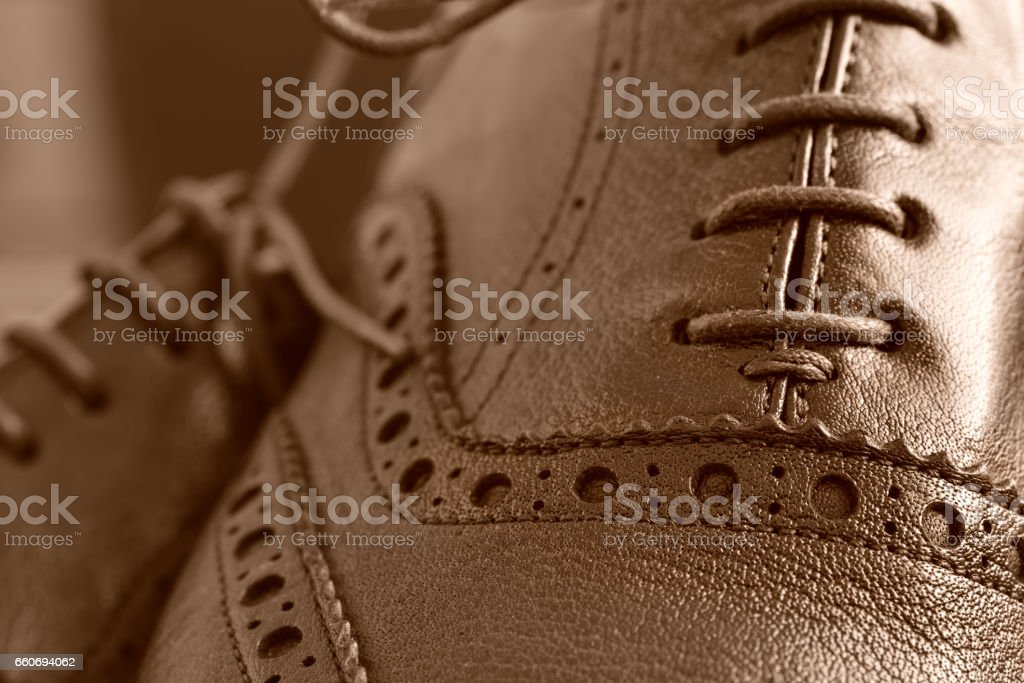 Brogues boots stock photo