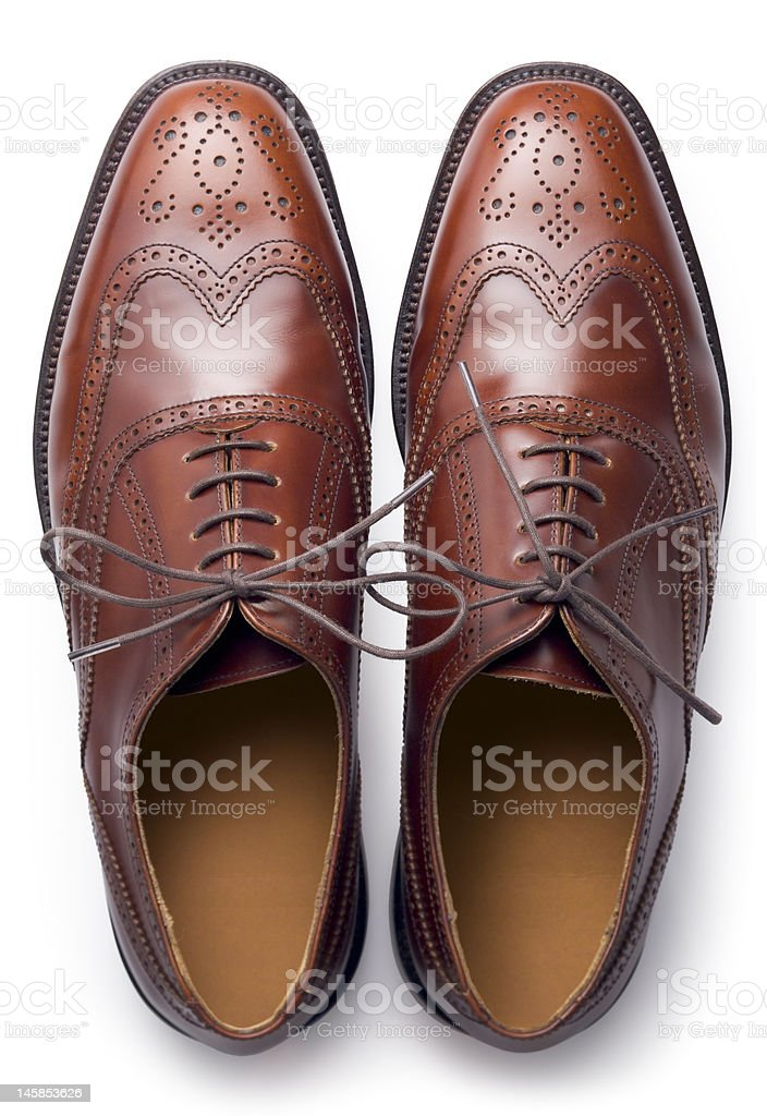 Brogues from above stock photo