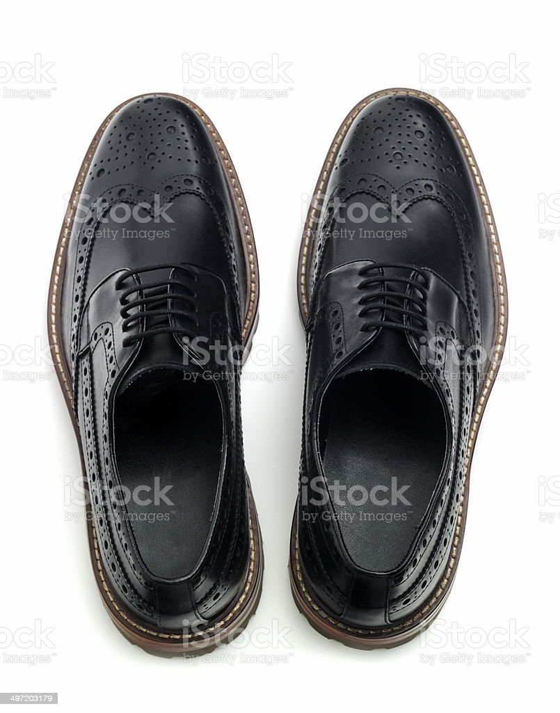 Brogues looking down stock photo