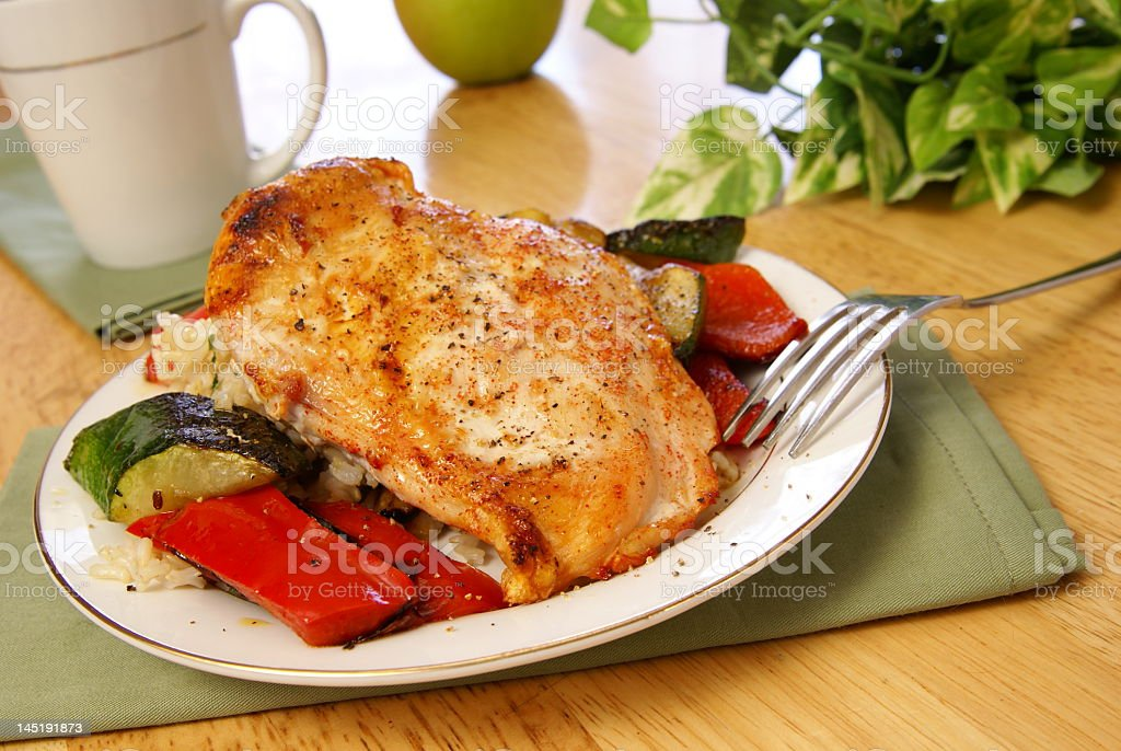 Broiled Pepper Chicken royalty-free stock photo