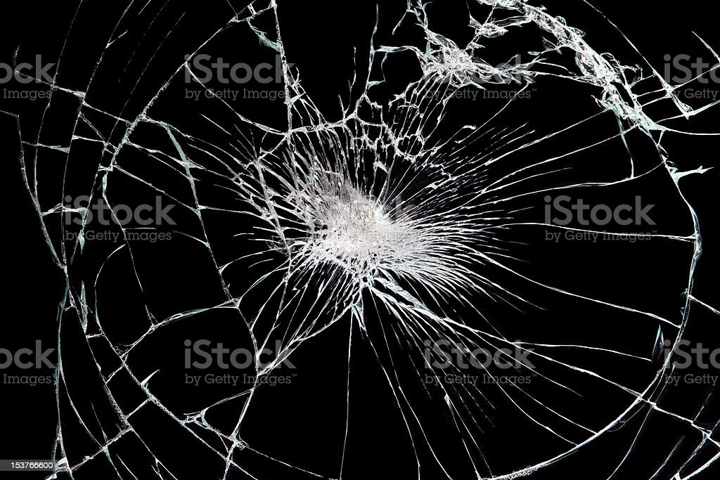 brokan black glass stock photo