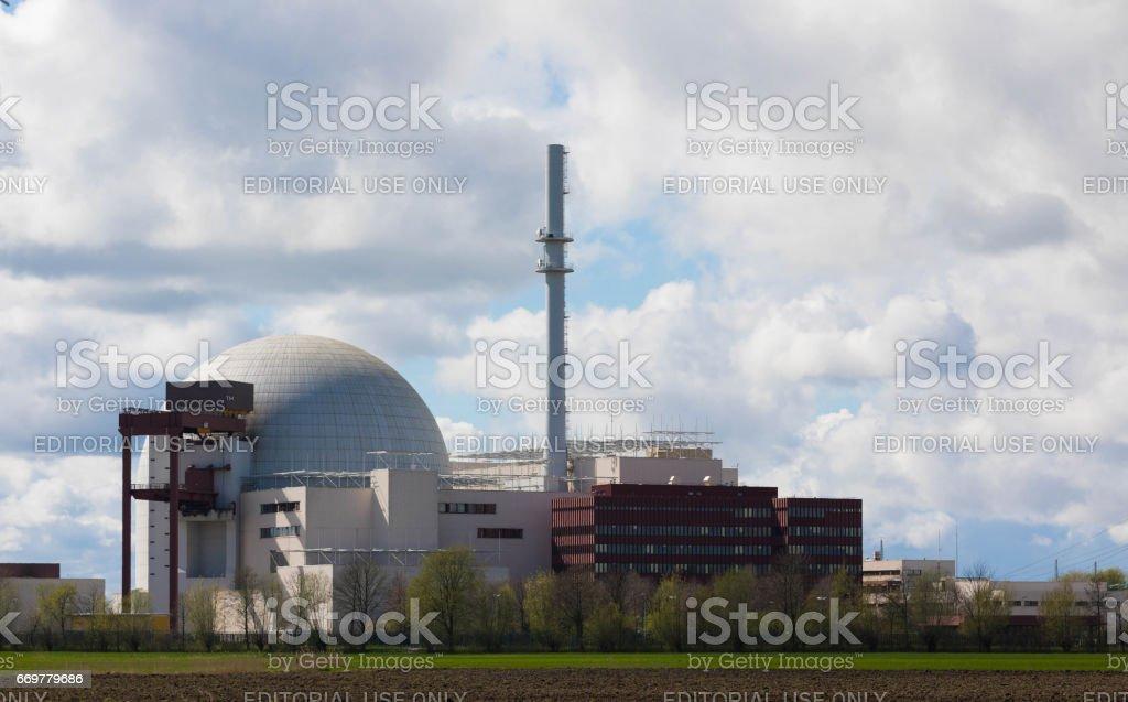 Brokdorf, GERMANY - April 16, 2017:Brokdorf nuclear power plant stock photo