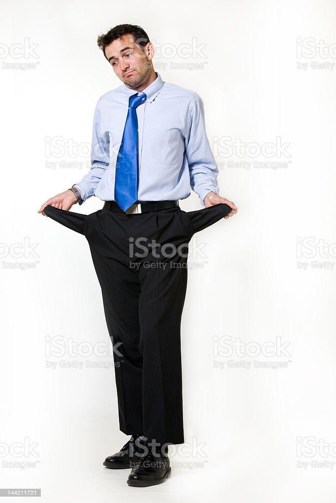 Broke business man royalty-free stock photo