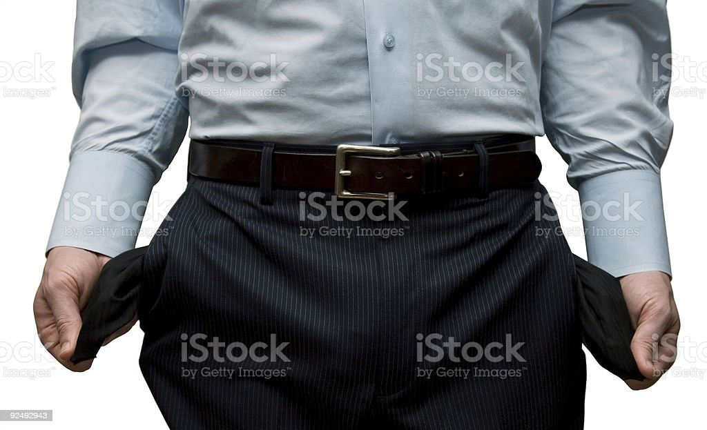 Broke Businessman royalty-free stock photo