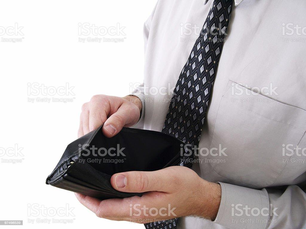 Broke Worker royalty-free stock photo