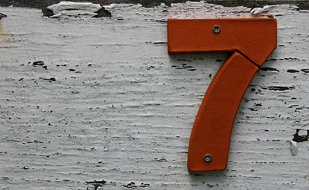 Broken 7  number 7 stock pictures, royalty-free photos & images