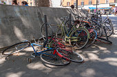 istock Broken and abandoned bicycles, Rome 1271550567