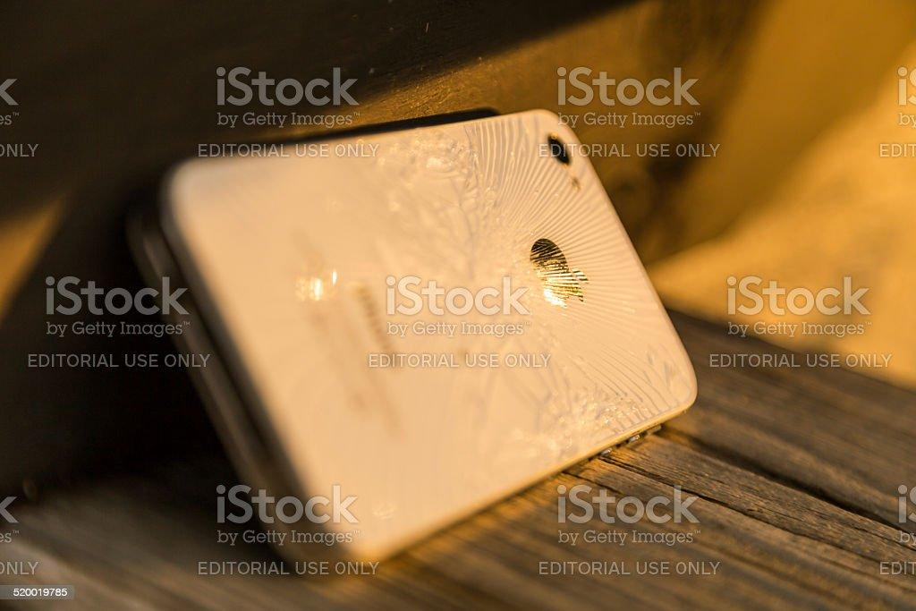 Broken Apple iPhone 4S stock photo