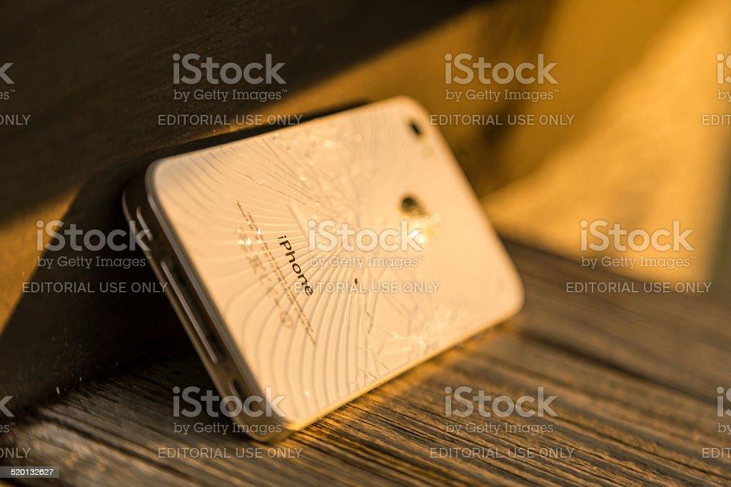 Broken Apple iPhone 4S stock photo