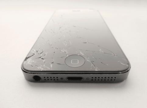 Broken Apple mobile device.