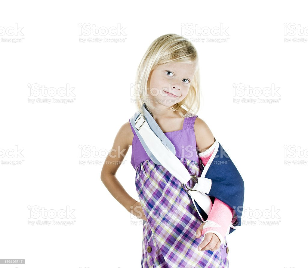 Broken arm with attitude royalty-free stock photo