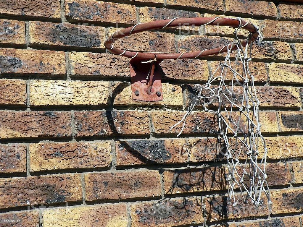 Broken Basketball Hoop stock photo