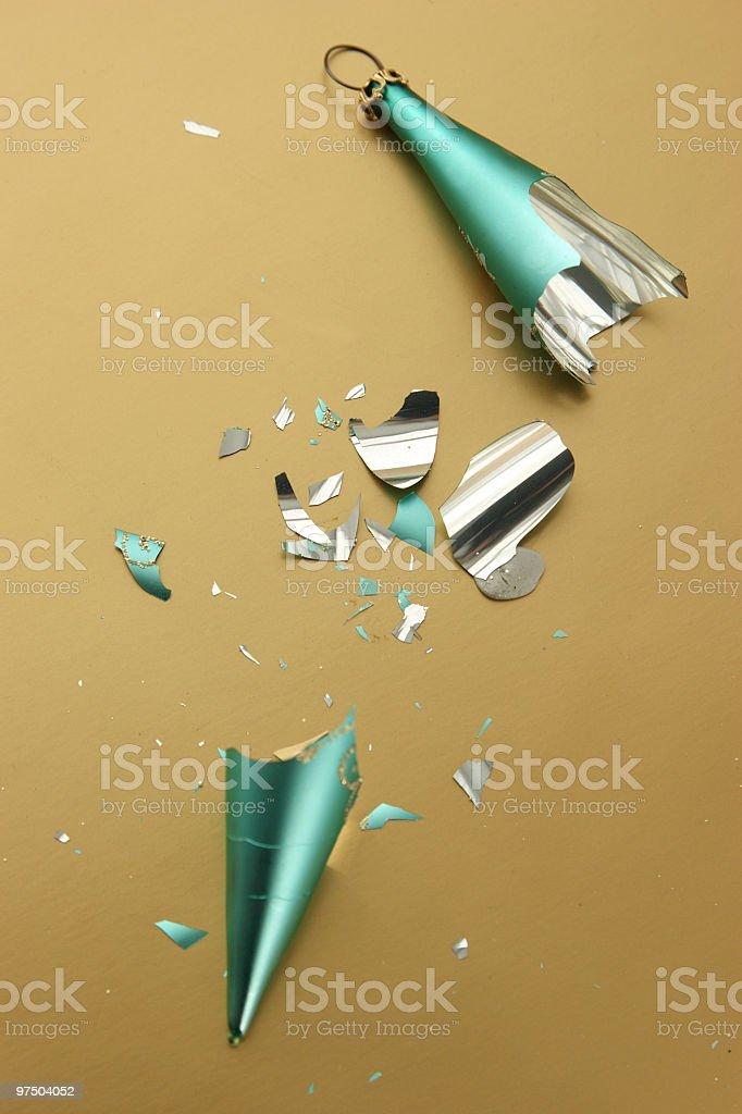 Broken Bauble royalty-free stock photo
