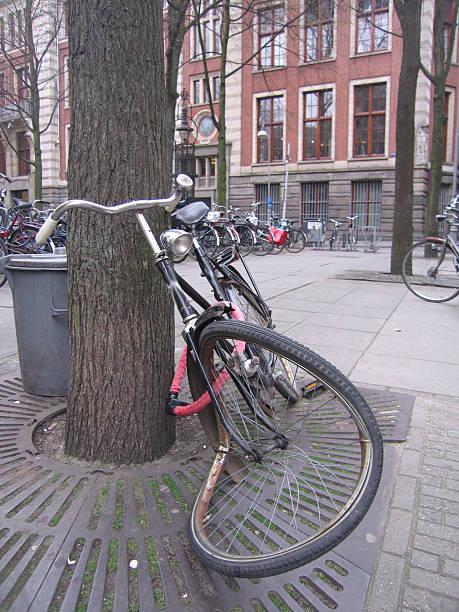 Broken Bicycle stock photo